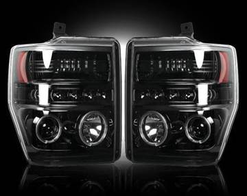 Picture of Recon Projector Headlights - Smoked - Ford 2008-2010