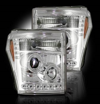 264272CL - Recon Projector Headlights - Clear - Ford 2011-2016
