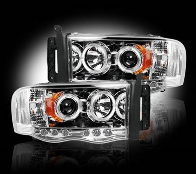 264191CL - Recon Projector Headlights - Clear - Dodge 2003-2005