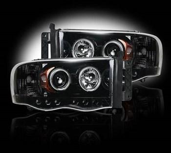 Image de Recon Projector Headlights - Smoked - Dodge 2003-2005