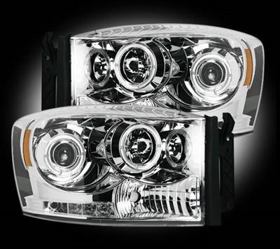 264199CL - Recon Projector Headlights - Clear - Dodge 2006-2009