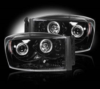 Image de Recon Projector Headlights - Smoked - Dodge 2006-2009
