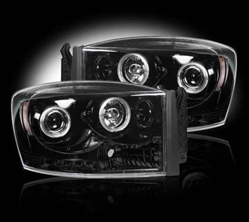 Picture of Recon Projector Headlights - Smoked - Dodge 2006-2009