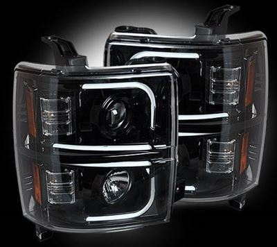 264296BKC - Recon Projector Headlights - Smoked - GM 2015-2017