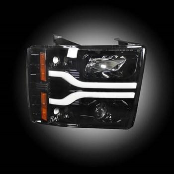 Image de Recon Projector Headlights - Smoked - GM 2007-2013