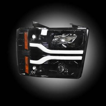 264195BKC - Recon Projector Headlights - Smoked - GM 2007-2013