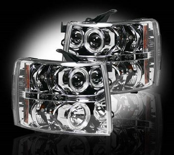 264195CL - Recon Projector Headlights - Clear - GM 2007-2013