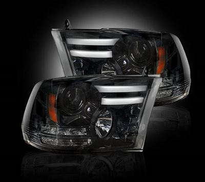 264276BKC - Recon Projector Headlights - Smoked - Dodge 2014-2016