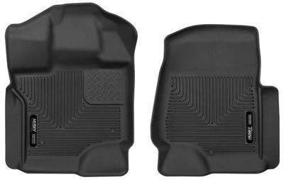 53361 - Husky Floor Mats - Front - Ford 2017-2018 Crew/SuperCab w/ Carpet w/o Storage Box