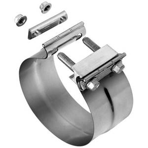 FPLJ400 - FloPro 4-inch Aluminized Steel Lap Joint Exhaust Clamp Image
