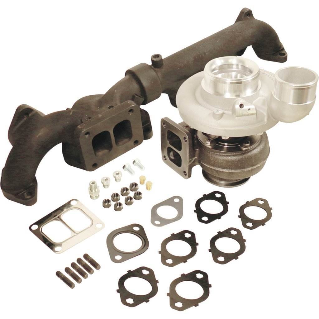 BD1045290 - BD Iron Horn Turbocharger Kit - S361SXE/76 w/ 0.91 A/R ratio - Dodge 2007.5-2018 Cummins