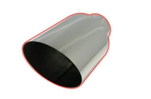 407015AC - FloPro's 4-7-inch x 15-inch 45┬░ Miter Angle Cut 304 SS exhaust tip - fits 4-inch Exhaust systems