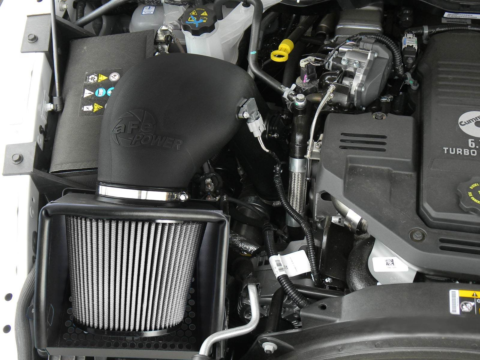 51-32412 - aFE Pro Dry S Performance Cold Air Intake System for 2013-2018 Dodge Cummins 6.7L Diesel Trucks - Installed