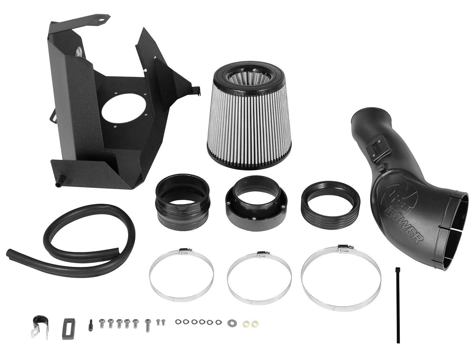 51-11872-1 - aFE Pro Dry S Performance Cold Air Intake System for your 2011-2016 Ford Powerstroke 6.7L Diesel - Kit Contents