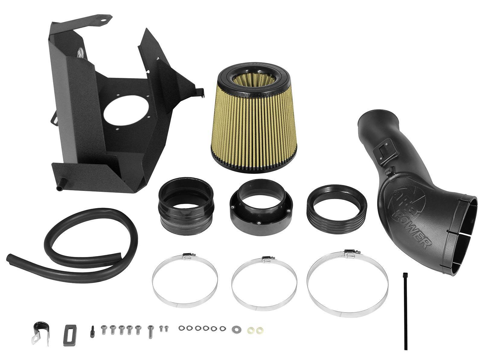 75-11872-1 - aFE Pro Guard 7 Performance Cold Air Intake System for 2011-2016 Ford Powerstroke 6.7L diesels - Kit Contents
