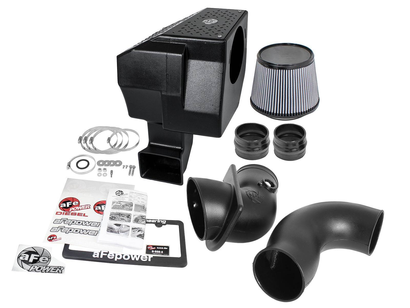 51-80882 - aFE Pro-Dry-S Type Si Performance Cold Air Intake System for 2006-2007 GMC/Chevy Duramax 6.6L LBZ diesels.