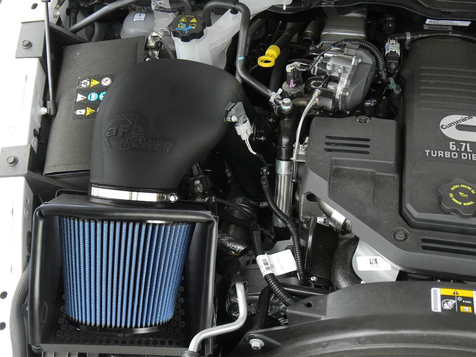 54-32412 - AFE's Pro5R Stage II Cold Air Intake System for 2013-2018 Dodge Cummins 6.7L diesels - Installed