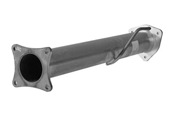 21122 - FloPro 4-inch Cat & DPF Delete Kit - No Muffler - Dodge 2011-12 CAB & CHASSIS
