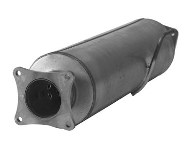 21123 -  FloPro 4-inch Cat & DPF Delete Kit - With Muffler - Dodge 2011-12 CAB & CHASSIS