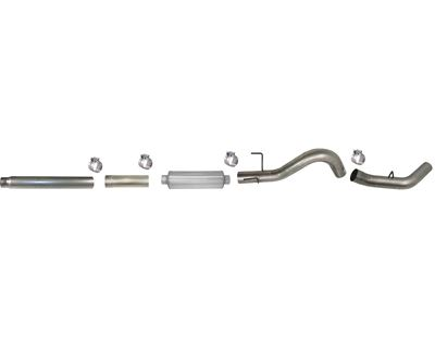 618 - Flo-Pro 5-inch Cat-Back Exhaust - Aluminized - Dodge 2004.5-2007 HO600 EC-QC/SB-LB-Dually, MC/SB