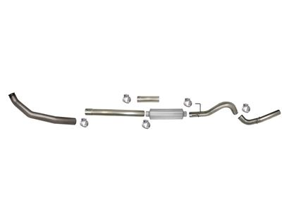 805 - Flo-Pro 4-inch Turbo Back Exhaust - Aluminized - Dodge 2003-2004 EC-QC/SB-LB-Dually