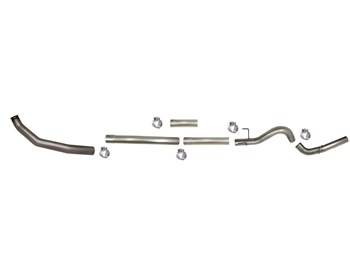 "805NM - Flo-Pro 4"" Turbo Back Exhaust - Aluminized - No Muffler - Dodge 2003-2004 EC-QC/SB-LB-Dually"