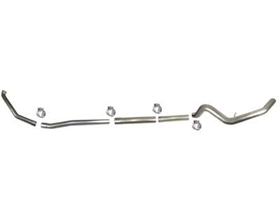 831NM - Flo-Pro 4-inch Turbo Back Exhaust - Aluminized - No Muffler - Ford 1999 - 2003