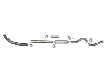 "SS805 - Flo-Pro 4"" Turbo Back Exhaust - Stainless - Dodge 2003-2004 EC-QC/SB-LB-Dually"