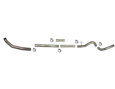 SS805NM - Flo-Pro 4-inch Turbo Back Exhaust - Stainless - No Muffler - Dodge 2003-2004 EC-QC/SB-LB-Dually