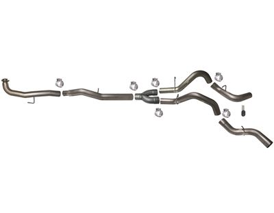 771 - Flo-Pro 5-inch Down Pipe Back Dual Exhaust - Aluminized GMC/Chevy Duramax 6.6L 2015.5 LML
