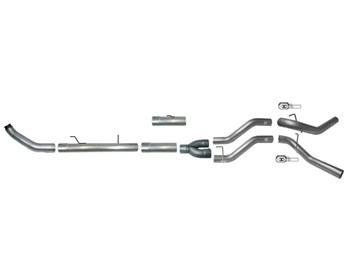 768 - Flo-Pro 5-inch Turbo Back DUAL Exhaust - Aluminized - Dodge 2013-2018