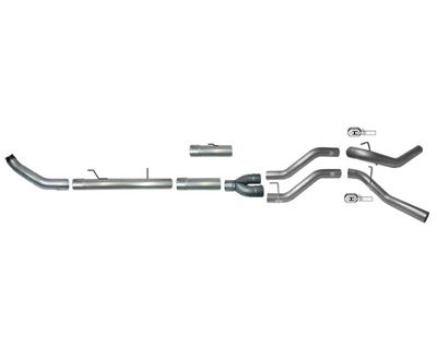 768 - Flo-Pro 5-inch Turbo Back DUAL Exhaust - Aluminized - Dodge 2013-2018