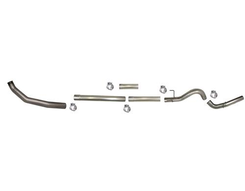 605NM - Flo-Pro 5-inch Turbo Back Exhaust - Aluminized - No Muffler - Dodge 2003-2004 EC-QC/SB-LB-Dually