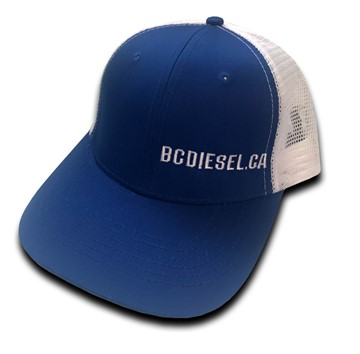 HAT-BLUE-SNPBCK - BC Diesel Snap Back Ball Cap - Royal Blue & White Mesh