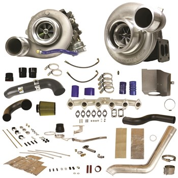 1045480 - BD RT700 Twin Turbo Kit for 2007-2009 Dodge Cummins 6.7L