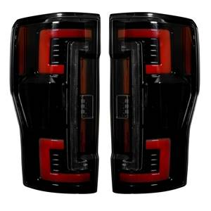 264299BK - Recon OLED Tail Lights with Smoked Lenses for 2017-2018 Ford Powerstroke 6.7L trucks