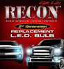 264225WH - Recon 921 T-15 (Ultra High Power Magnified LED) Bullet-Style Ultra High Power 3W SMD Bulbs – WHITE (Set of 2)
