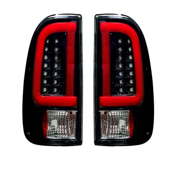 264293BK - Recon OLED Tail Lights - Smoked Lens - Ford 2008-2016 6.4/6.7L Powerstroke