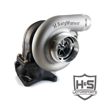 132001 - H&S Motorsports Single Turbocharger Kit w/ Borgwarner SX-E turbo for 2011-2016 GMC/Chevy Duramax 6.6L LML diesel trucks