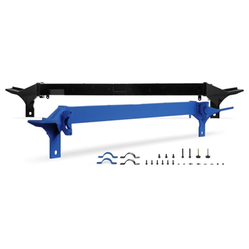 MMUS-F2D-08 - Mishimoto's Upper Support Bar for 2008-2010 Ford Powerstroke 6.4L F250-F550 trucks - Available in either  Stealth Black or Wrinkle Blue Powder Coat finish
