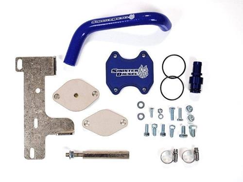 SD-EGRD-6.7C-10 - Sinister Diesel EGR & Cooler Delete Kit for 2010-2014 Dodge Cummins 6.7L 2500/3500 diesel trucks	""
