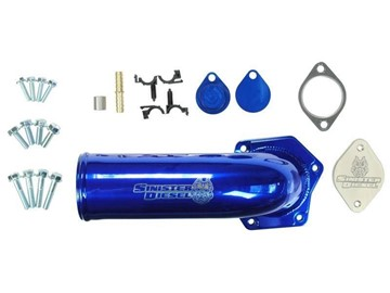 SD-EGRD-6.4-IE - Sinister Diesel EGR & Cooler Delete Kit With Intake Manifold for 2008-2010 Ford Powerstroke 6.4L diesels