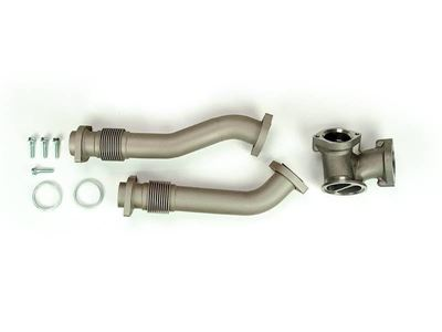 SD-UPPIPE-7.3-C - Sinister Diesel's Up-Pipe Kit for 1999.5-2003 Ford Powerstroke 7.3L diesels - Ceramic Pipe Finish