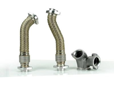 SD-UPPIPE-7.3-W - Sinister Diesel's Up-Pipe Kit for 1999.5-2003 Ford Powerstroke 7.3L diesels - Raw Finish with Heat Wrap