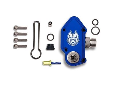 SD-FUELBLK-6.0-ADJ - Sinister Diesel Blue Spring Kit w/ Billet Spring Housing and Adjuster Screw for 2003-2007 Ford Powerstroke 6.0L diesels