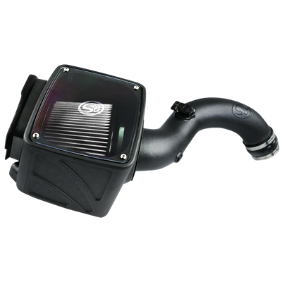 75-5102D - S&B Cold Air Intake System (Dry and Disposable Air Filter) for 2004-2005 GMC/Chevy Duramax 6.6L LLY diesel trucks