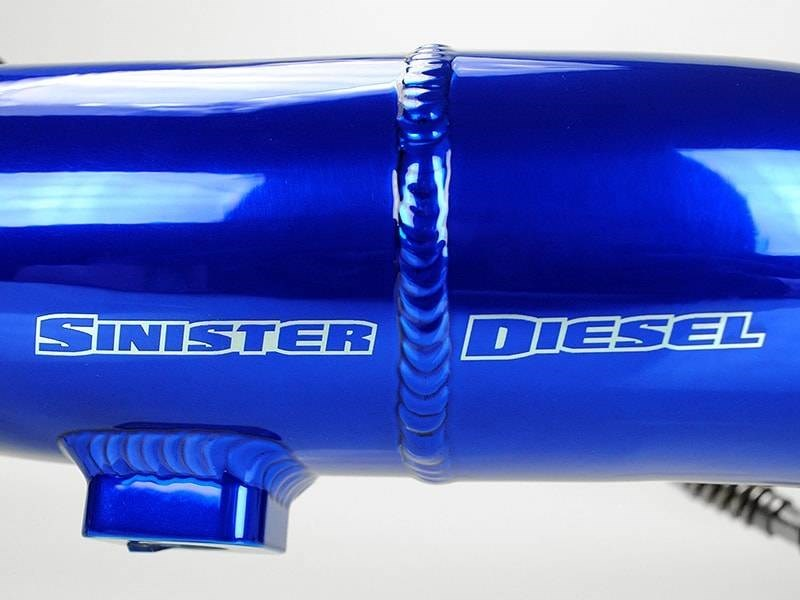 SD-INTRPIPE-6.7P-COLD-TVD-11 - Sinister Diesel's Intercooler Cold Pipe with Throttle Valve Delete Kit for 2011-2016 Ford Powerstroke 6.7L diesel pickups.