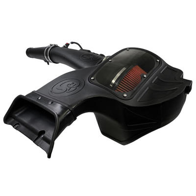 SB75-5126 - S&B's Pre-Oiled Performance Cold Air Intake system for 2018-2019 Ford Powerstroke 3.0L V6 F150 diesel trucks.