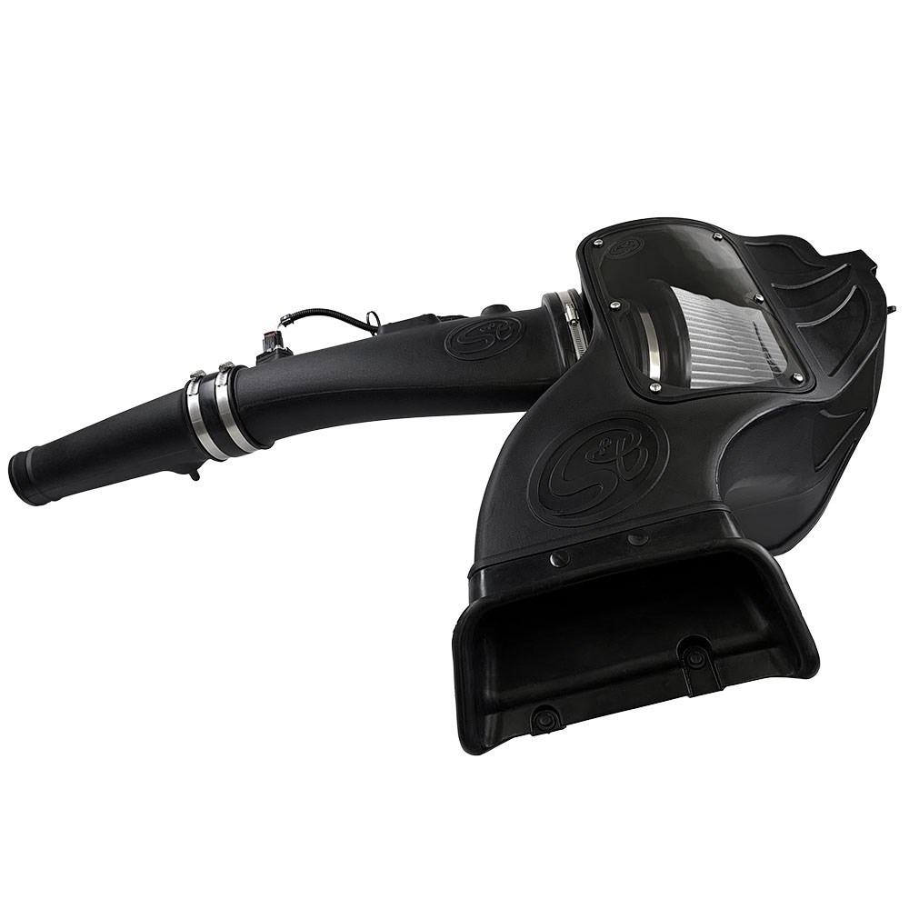 """75-5126D - S&B's Dry Media Performance Cold Air Intake system for 2018-2019 Ford Powerstroke 3.0L V6 F150 diesel trucks.	"""