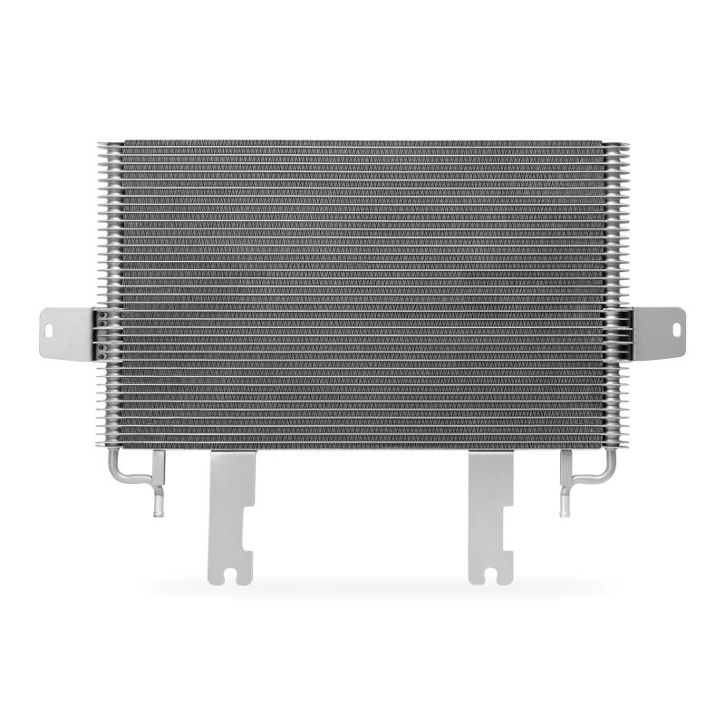 MMTC-F2D-99SL - Mishimoto's new 37-row stacked-plate transmission cooler provides a larger surface area increases core volume by 265% compared to the stock 9-row transmission cooler in 1999-2003 Ford Powerstroke 7.3L diesel trucks. Designed as a direct, drop-in replacement, this unit increases fluid capacity by 1qt and has a proven 10┬░C temperature drop.